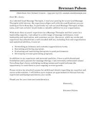 Massage Therapists Resume Therapist Example Cover Letter