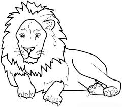 Lion The Great King Of Jungle Coloring Page