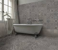Bathroom Floor Tile Ideas Retro by An Eclectic Design Of Warm Grey Patterns A Clever Mix Of Organic