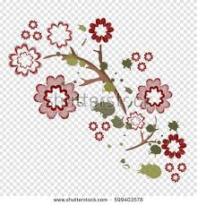 Embroidery Patch Vintage Flowersvector Illustrationtransparent BackgroundPattern Of Peoniesisolated