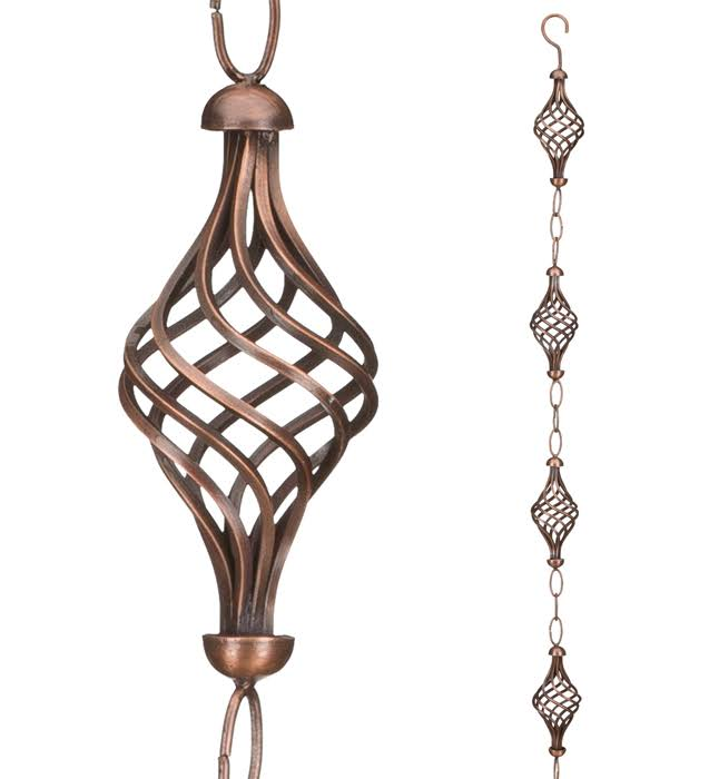 Regal Art and Gift 20253 Rain Finial Chain - Bronze, 100""