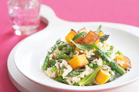 Pumpkin Risotto Recipe Vegan by Roasted Pumpkin Asparagus And Mint Risotto