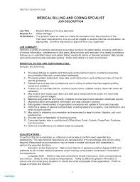 Medical Billing Resume Examples Job Description For Shalomhouse