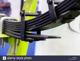 100 Truck Leaf Springs Springs Of A Truck Chassis Part Stock Photo 180796214 Alamy