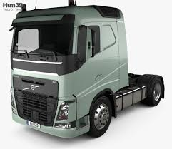 100 Truck Sleeper Cab Volvo FH 420 Tractor 2axle 2012 3D Model
