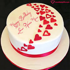 Birthday Wishes Cake For Lovers With Name Happy Birthday Wishes