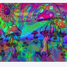 trippy psychedelic trippy mushrooms and