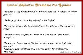 Sample Resume Objectives For Teaching Position Objective Samples Job Resumes Career Examples Object