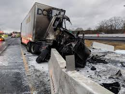 Crash, Fire Involving Tractor-trailers Tangles I-81 Traffic ...