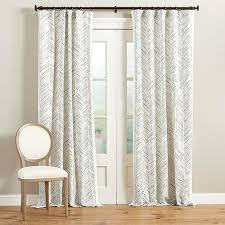 Nate Berkus Herringbone Curtains by Cotton Brush Strokes Curtains Products Bookmarks Design