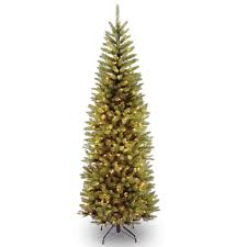Pencil Artificial Christmas Tree Clear Lights Img