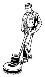 Floor Buffer Maintenance by Medical Cleaning Specialists Housekeeping Cleaning Technicians