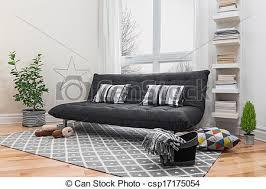 geräumiges wohnzimmer mit modernem dekor geräumiges