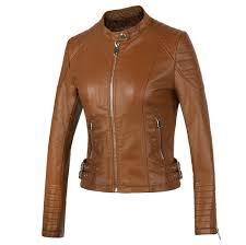 popular women u0026 39 s brown leather jacket buy cheap women u0026 39 s