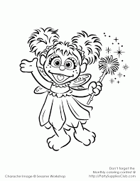 Index Coloring Pages Free Printable Sesame Street