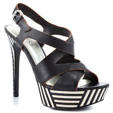 guess oliane black leather shoes for women aemow