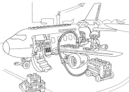 Lego Airport Coloring Page For Kids Printable Free Duplo New Pages