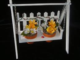 Make A Decorative Wood Swing Its Flower Pot Holder Great Gift Project
