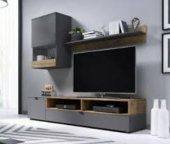 details zu wohnwand stilvoll wohnmöbel tv möbel tv lowboard wohnzimmer set schwarz