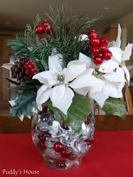 Dining Table Centerpiece Ideas Diy by Diy Christmas Decorations Poinsettia Centerpiece Holidays At