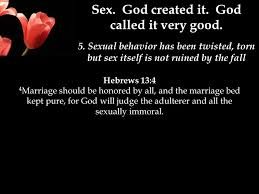 The Marriage Bed Is Undefiled by Sexuality The Way God Created It The Proposed Message Title