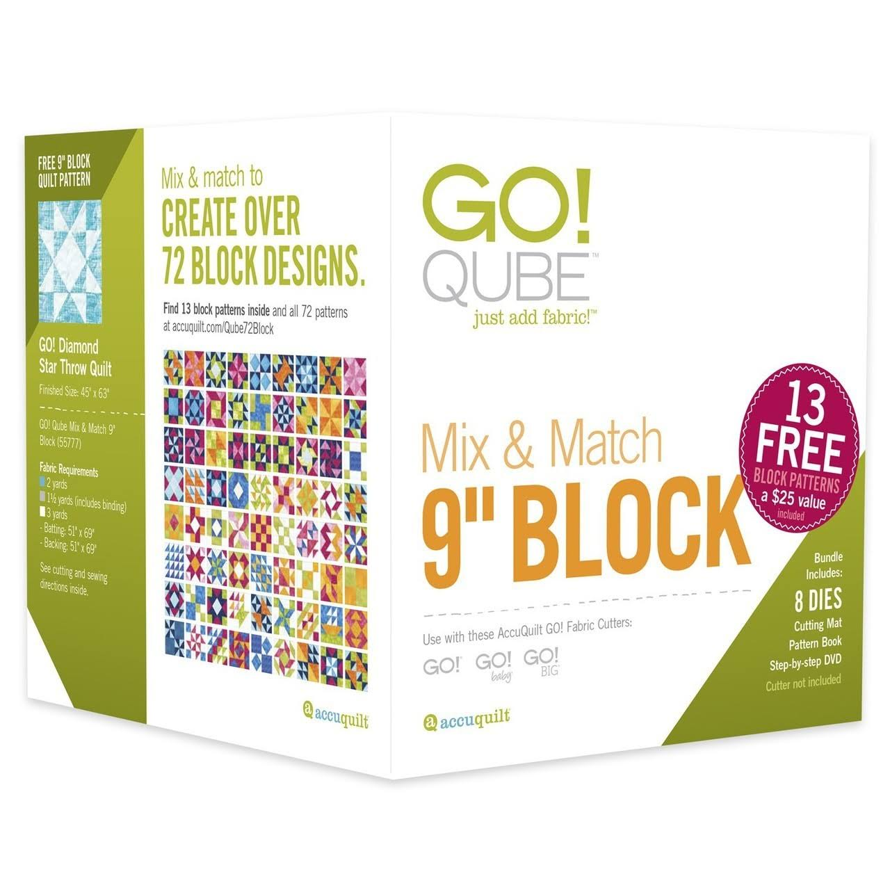 AccuQuilt Go Qube Mix & Match - 9'' Block