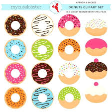 Donut Pictures Clip Art Donuts Set Of Doughnuts Cute Personal