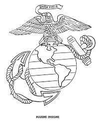 Marine Insigne Drawing To Print American Flags Bald Eagle And The Liberty Bell Are A Few Of Many Patriotic Coloring Pages Pictures Sheets In This