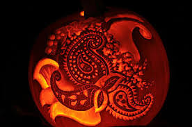 Boston Terrier Pumpkin Pattern by Pumpkin Carvings By Richard Mcconochie