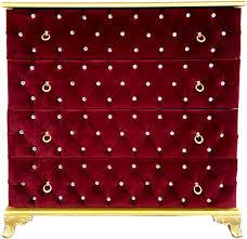 casa padrino barock kommode boardeauxrot gold 100 x 45 x h 90 cm massivholz schlafzimmer kommode mit 4 schubladen und glitzersteinen barock