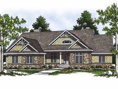 Craftsman Style House Plans Ranch by Rear View House Plans Ranch Style Home Plans Craftsman Home