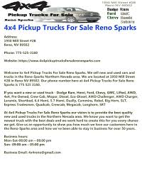 4x4 Pickup Trucks For Sale Reno Sparks By 4x4 Pickup Trucks For Sale ... Used 2016 Ford F150 For Sale In Reno Nv Stock 5101 Dodge Trucks Reno Caforsalecom Kia For Dolan Auto Group Enterprise Car Sales Certified Cars Suvs Sierra Tops Custom Truck Accsories 2011 F250 5089 Norcal Motor Company Diesel Auburn Sacramento Preowned Facebook Featured Vehicles Tahoe Search Craigslist And Renault Buick Gmc Serving Carson City Elko Customers Folsom