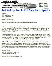 100 Trucks For Sale Reno Nv 4x4 Pickup Sparks By 4x4 Pickup
