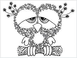 Free Printable Coloring Pages For Adults Advanced Sheets Pdf Animals Owl Large Size