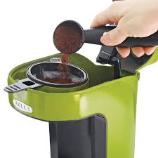 Amazon BELLA 13784 One Scoop Cup Coffee Maker Lime Green Single Serve Brewing
