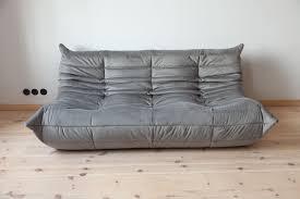 100 Ligna Roset French Velvet Sofa By Michel Ducaroy For Ligne 1970s