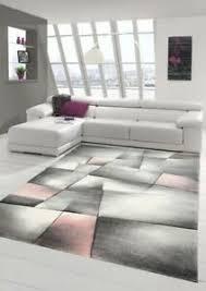 details zu teppich modern teppich wohnzimmer teppich kurzflor in pastell rosa grau