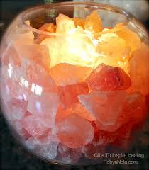 Earthbound Salt Lamp Bulb by Himalayan Salt Lamp Glass Bowl Lamp With Salt Crystals As