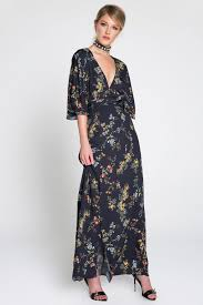 memdalet women u0027s blue floral print wrap maxi dress memdalet