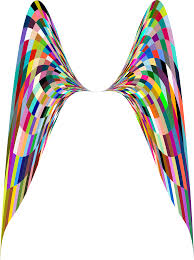 Clipart Colorful Geometric Angel Wings