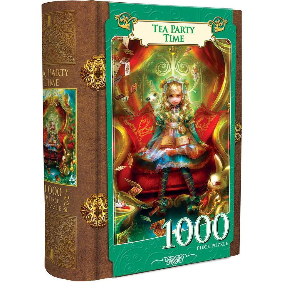 Masterpieces Alice In Wonderland Tea Party Time Fairytale Book Box Puzzle - 1000 Pieces