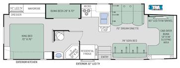 C Floor Plans by Four Winds C Diesel Motorhomes Floor Plans Thor Motor Coach