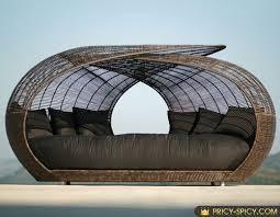 unique luxury furniture spartan outdoor wicker daybed by locsin