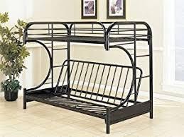 amazon com eclipse glossy black twin over full size futon bunk