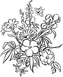 Download Coloring Pages Flowers Flower Page Free Of