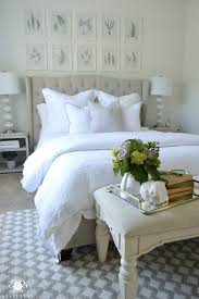 Relaxing White Guest Retreat with neutral tones and plush white
