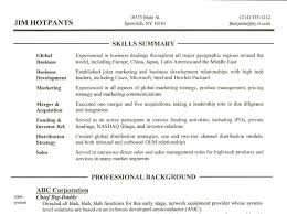 Skills Summary To Write On A Resume
