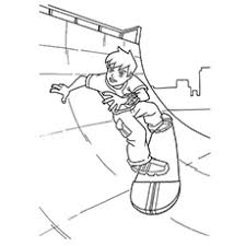 Free Prinable Coloring Pages Of Ben 10 Skating