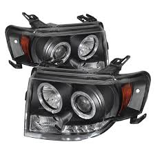 08 12 ford escape eye halo led projector headlights