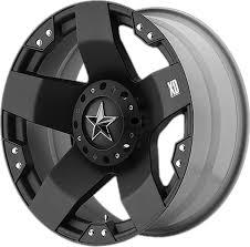 100 Black Rims For Trucks XD775 ROCKSTAR KMC Wheels